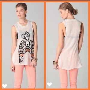 Wildfox White Label sleeveless Knit Top Si…